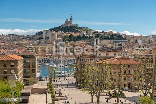 istock Notre-Dame de la Garde Basilica, Marseille Harbour, France 1294278715