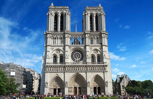 notredame, paris - kathedrale von notre dame stock-fotos und bilder