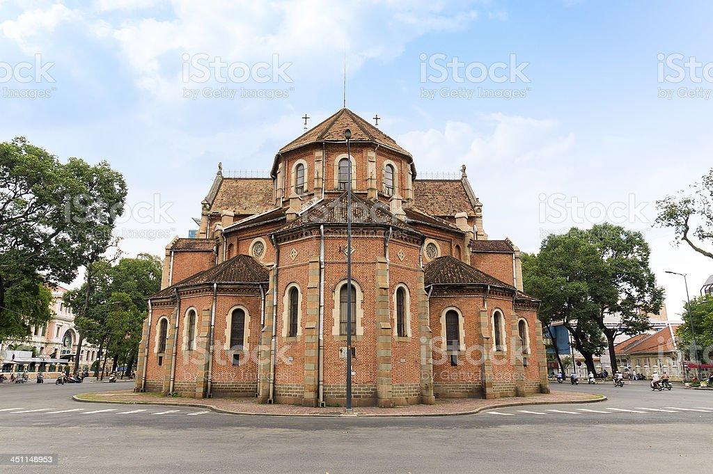 Notre-Dame Saigon Basilica in Ho Chi Minh City (Rear view) royalty-free stock photo