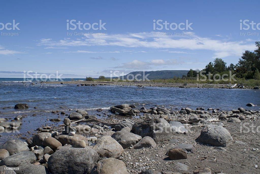 Nottawasaga Bay Shoreline stock photo