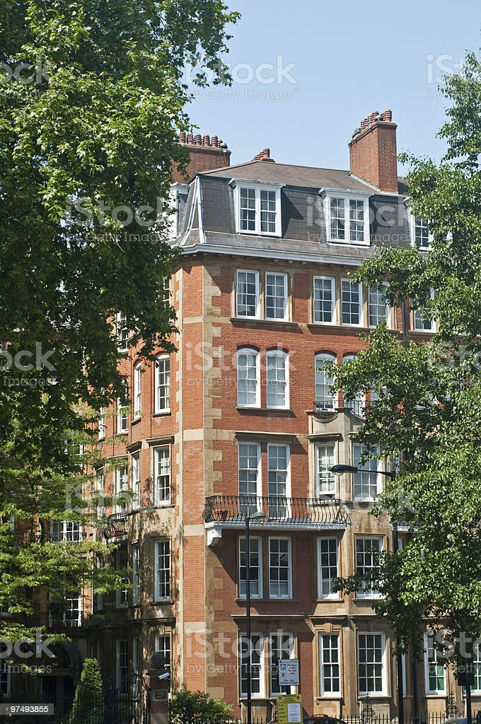Notting Hill appartments royalty-free stock photo
