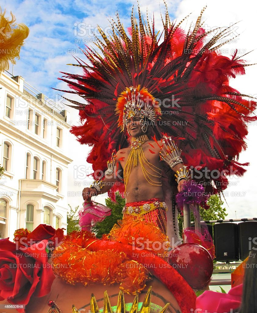 Notting Hill Carnival performer in London, England stock photo