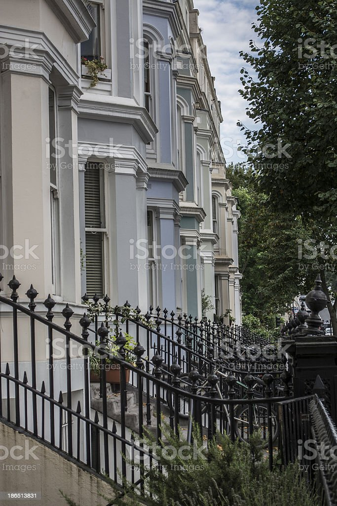 Notting Hill houses details royalty-free stock photo