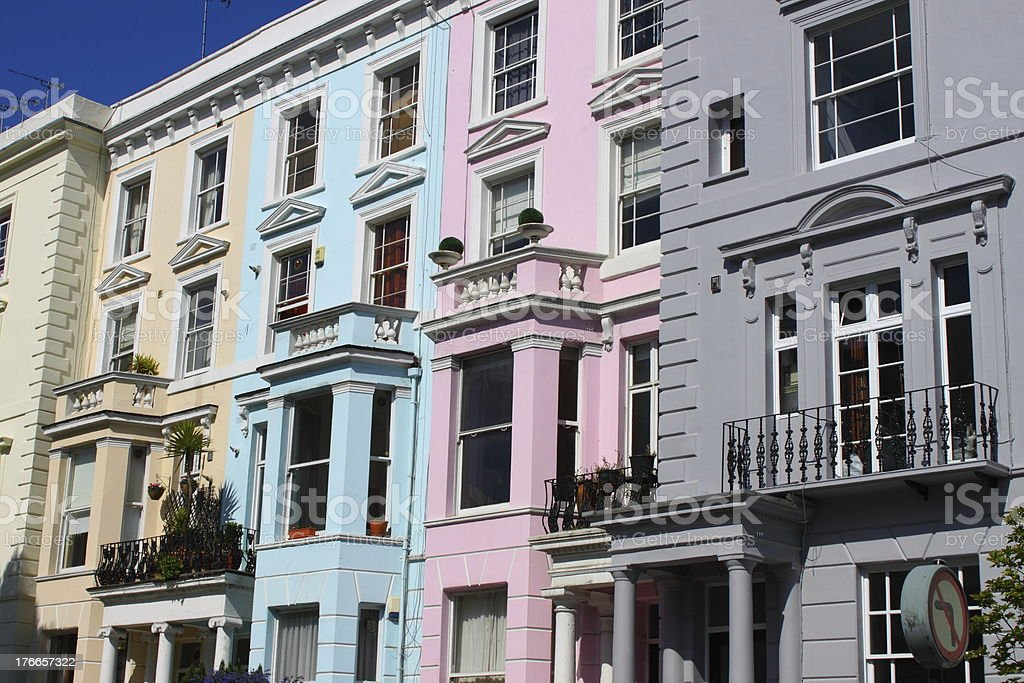 Notting Hill houses royalty-free stock photo