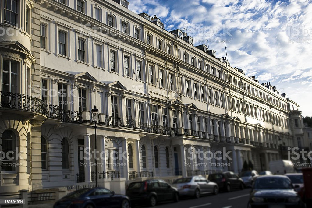 Notting Hill houses stock photo