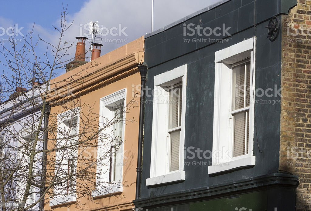 Notting Hill in London, England royalty-free stock photo
