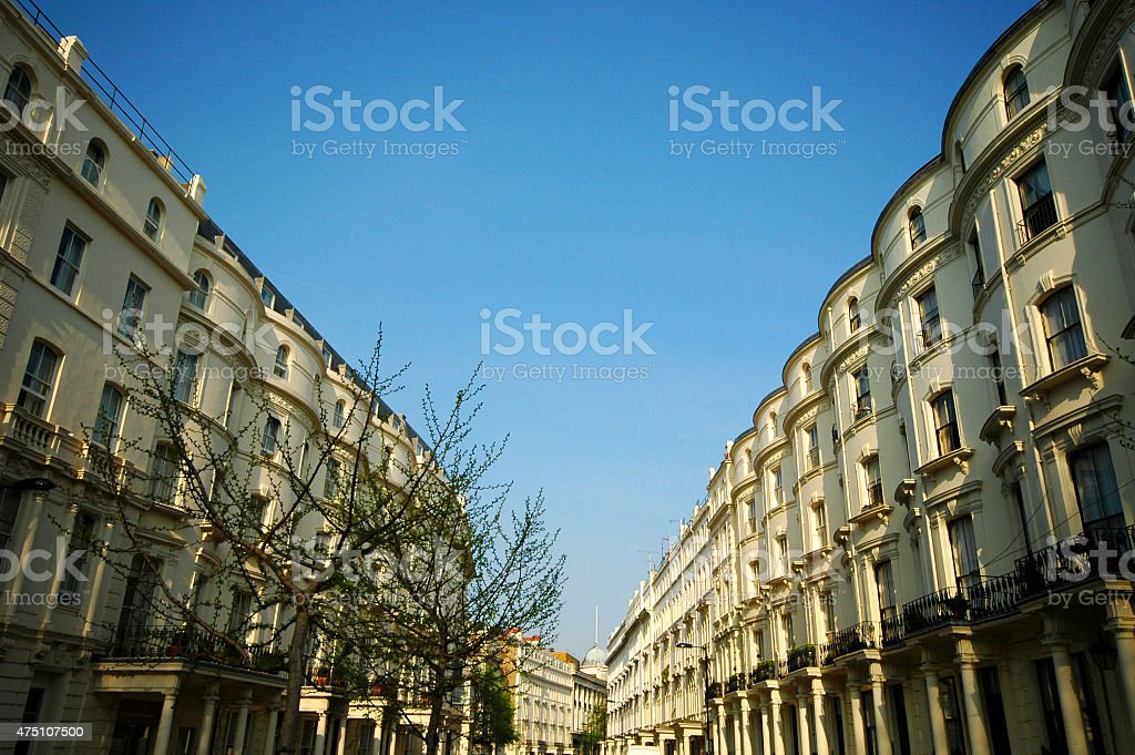 Notting Hill London. No people. stock photo
