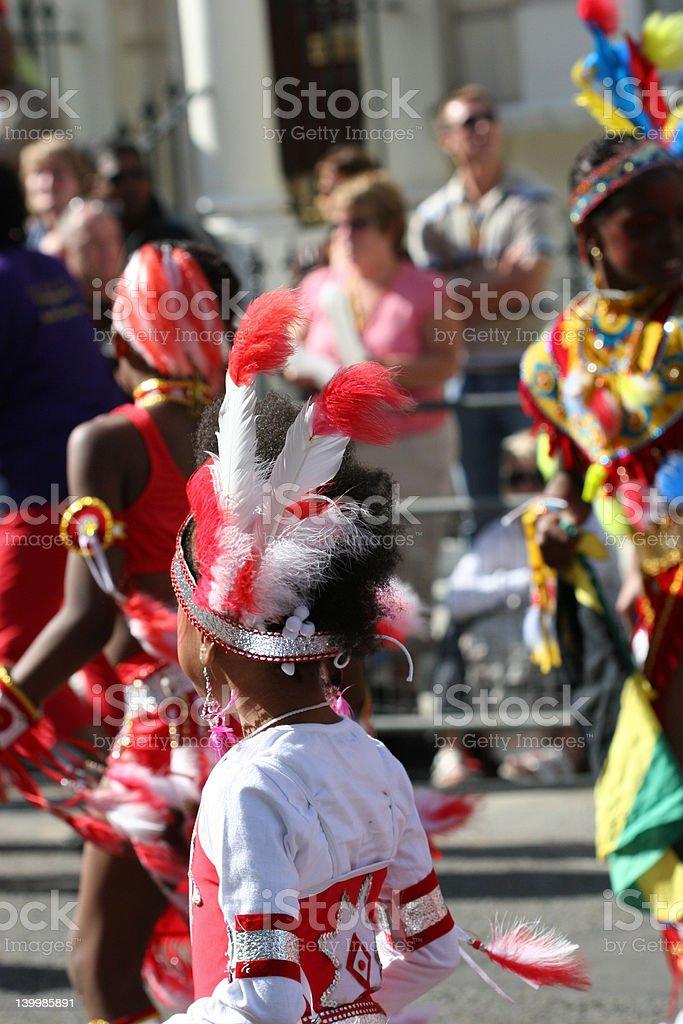 notting hill parade royalty-free stock photo