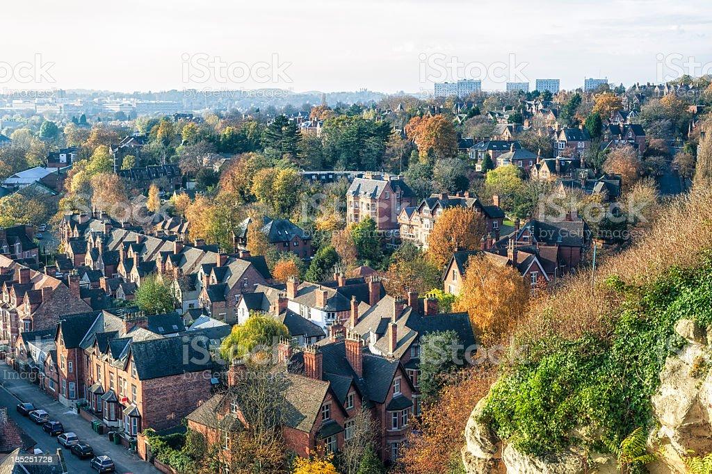 Nottingham Aerial View stock photo