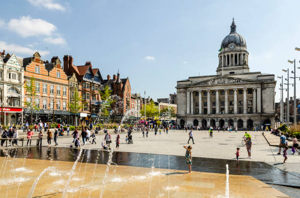 Nottingham Council House in Old Market Square stock photo