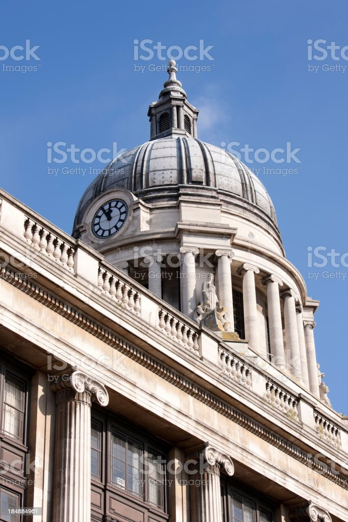 Nottingham Council House. royalty-free stock photo