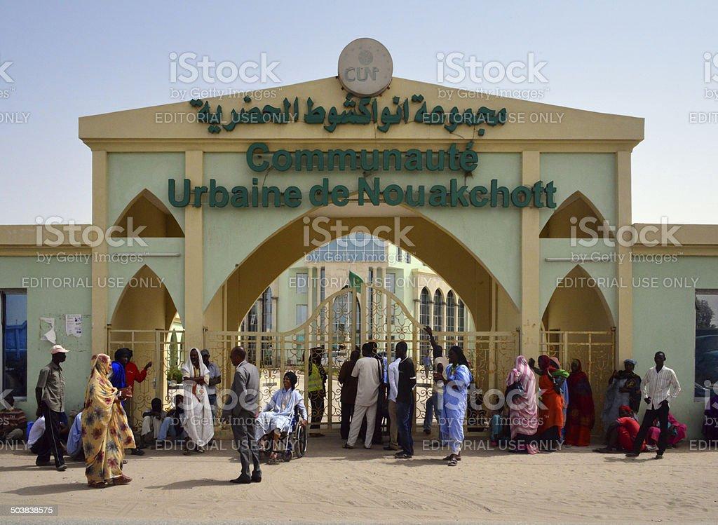 Nouakchott city hall, Mauritania stock photo