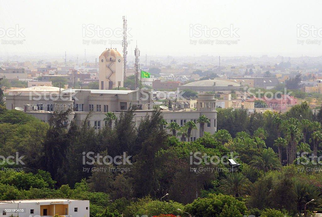 Nouakchott, Mauritania: presidential palace stock photo