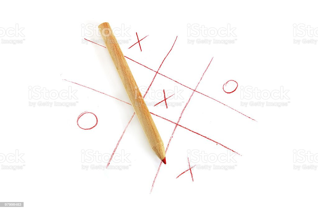 Noughts and crosses game royalty free stockfoto