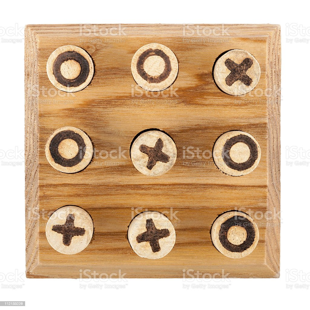 Noughts and Crosses stock photo