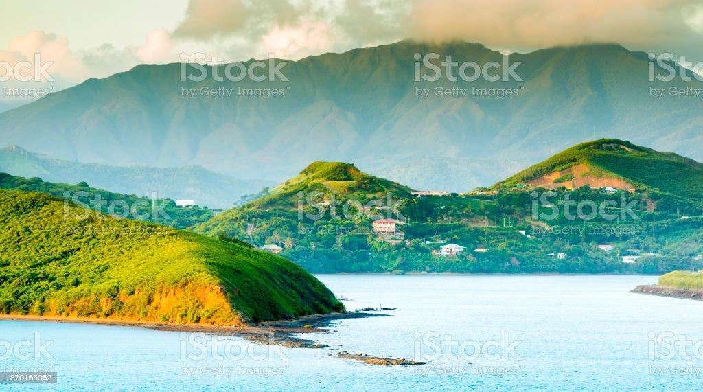 Noumea Sunset Landscape stock photo