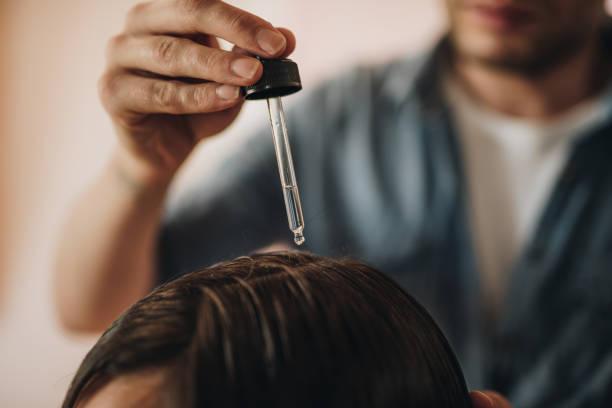 頭髮油滋養頭髮! - 護髮用品 個照片及圖片檔