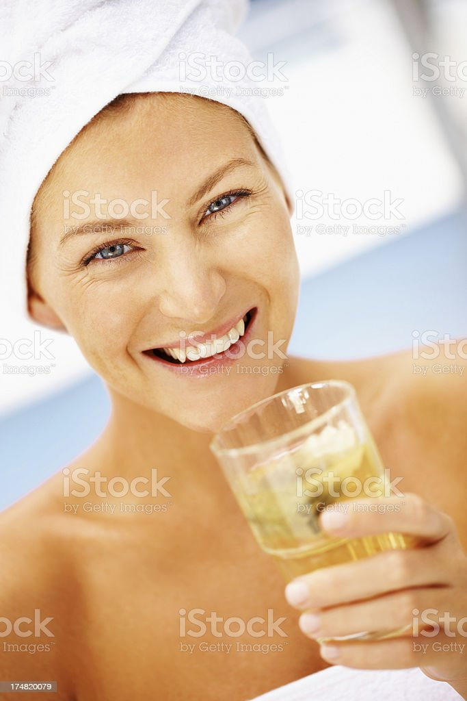 Nourishing her body - Spa Treatment royalty-free stock photo