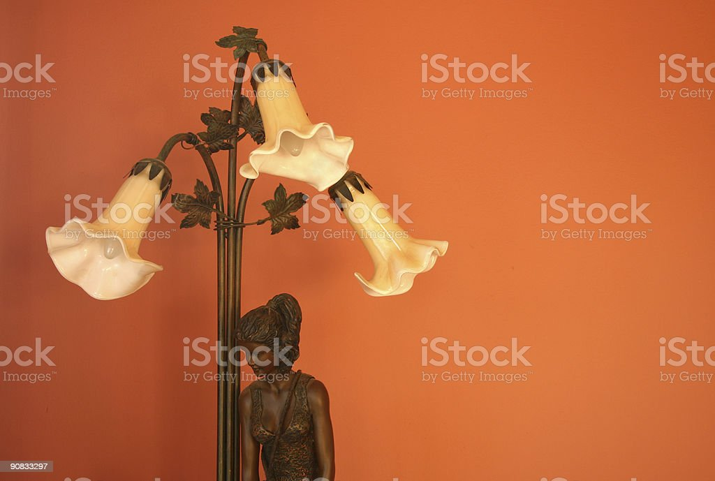 Nouveau lamp royalty-free stock photo