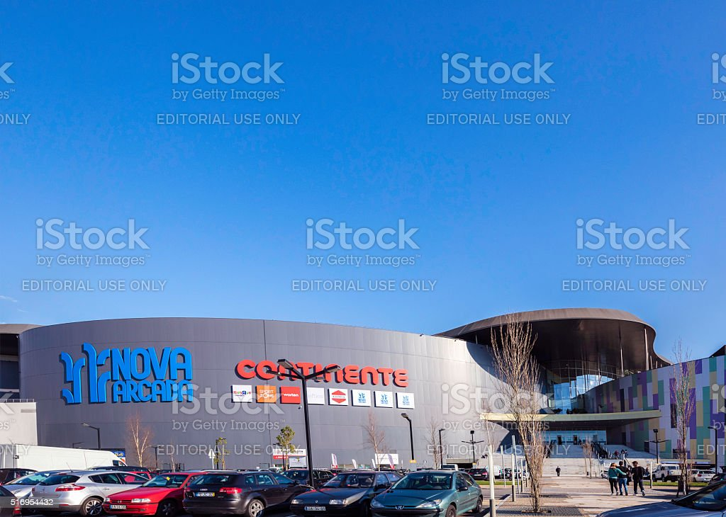 Nova Arcada Shopping Mall In Braga, Portugal Royalty Free Stock Photo