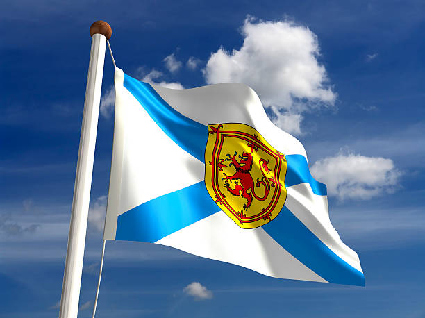 Nova Scotia flag Canada stock photo