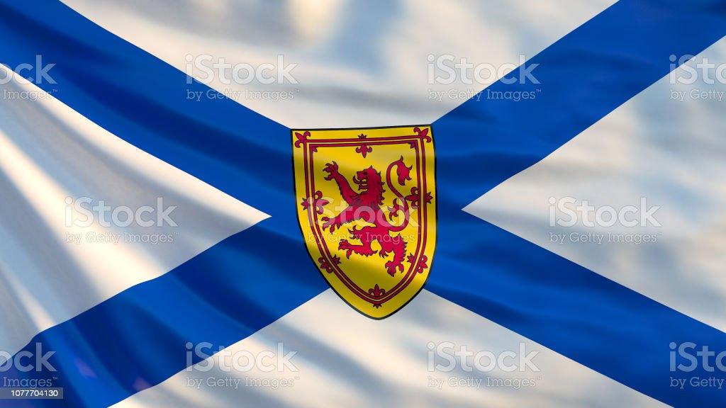Nova Scotia Flag Waving Flag Of Nova Scotia Province Canada Stock Photo Download Image Now Istock