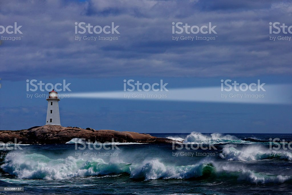 Nova Scotia Lighthouse stock photo