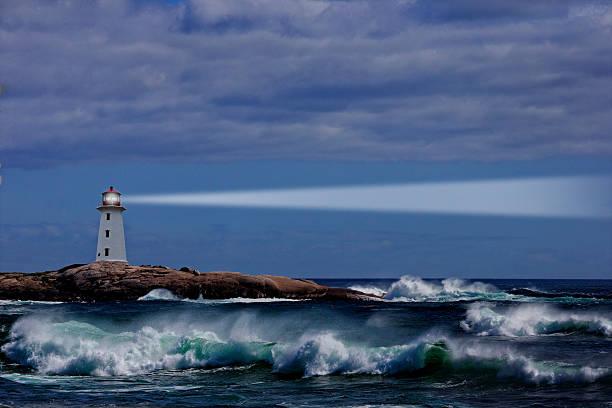Nova Scotia Lighthouse stock photo