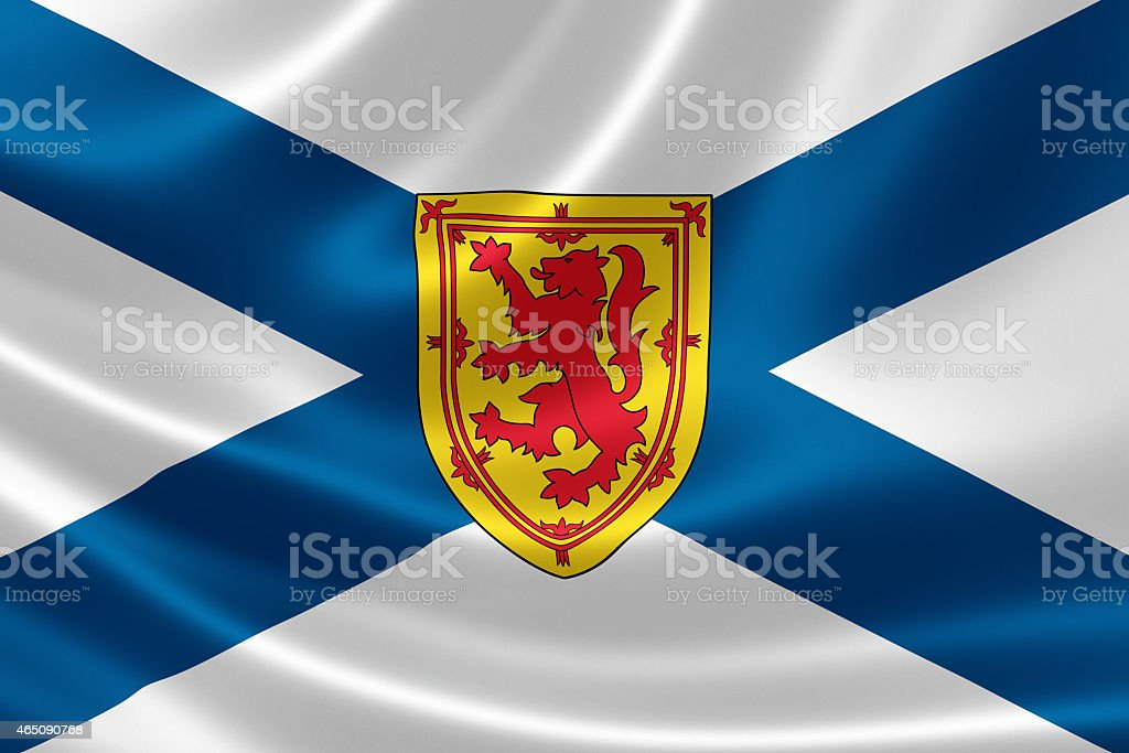 Nova Scotia Provincial Flag of Canada stock photo