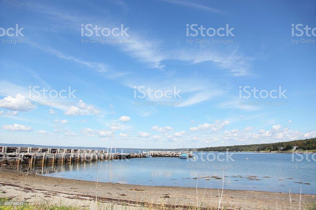 Nova Scotia scenery. At Blandford, Nova Scotia stock photo