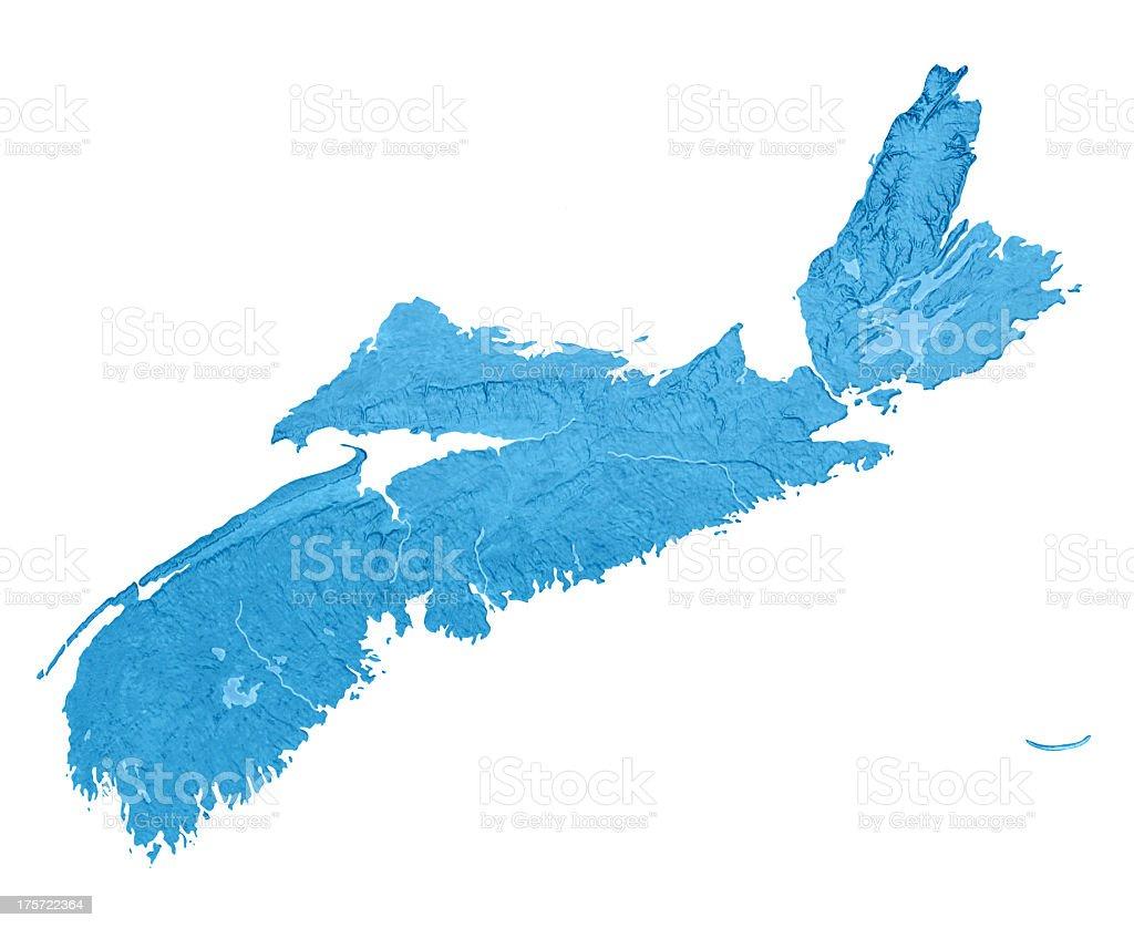 Nova Scotia Topographic Map Isolated royalty-free stock photo