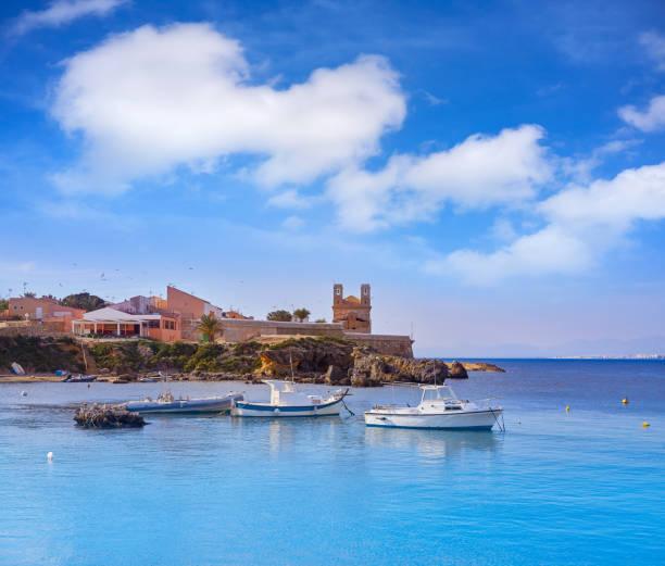 Nova Tabarca island port in Spain stock photo
