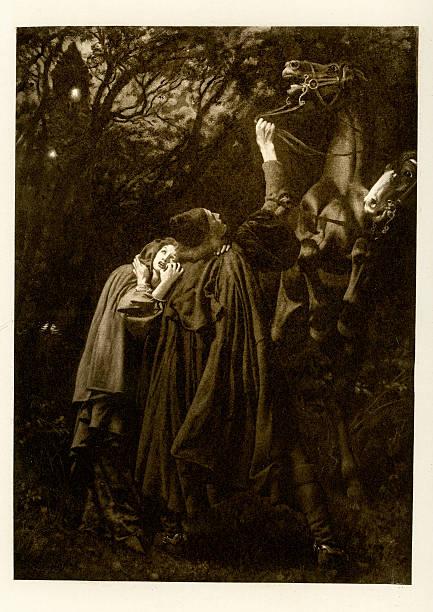 novellino von masuccio-liebhaber im sturm - gothic bilder stock-fotos und bilder