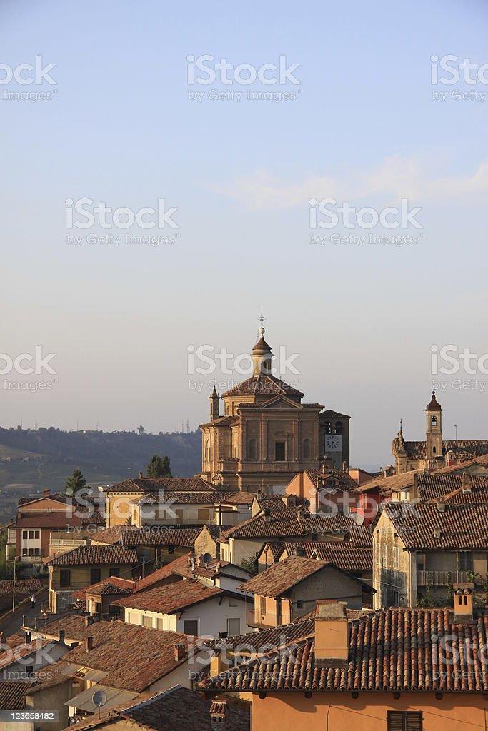 Novello Italian village in evening light royalty-free stock photo