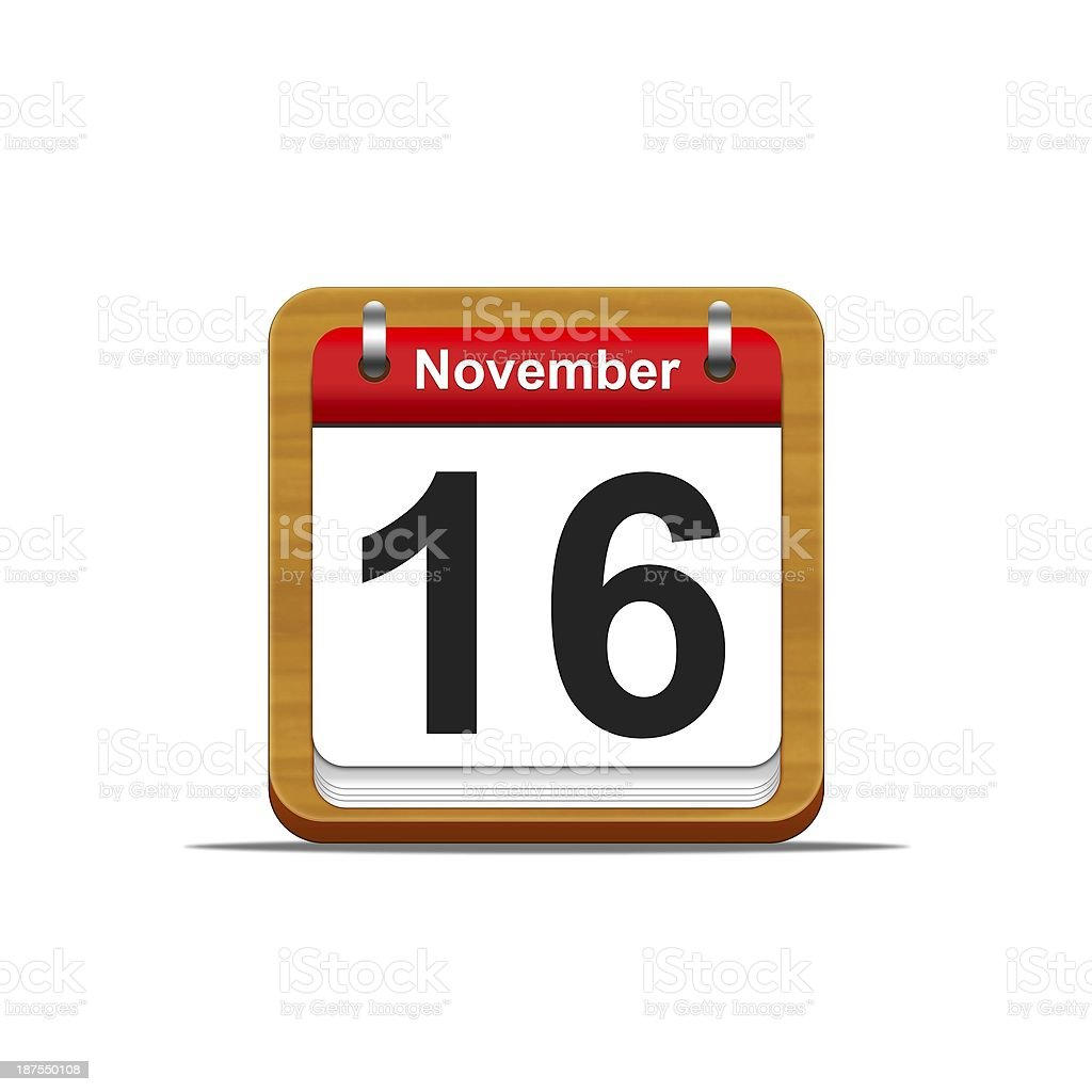 November 16. stock photo