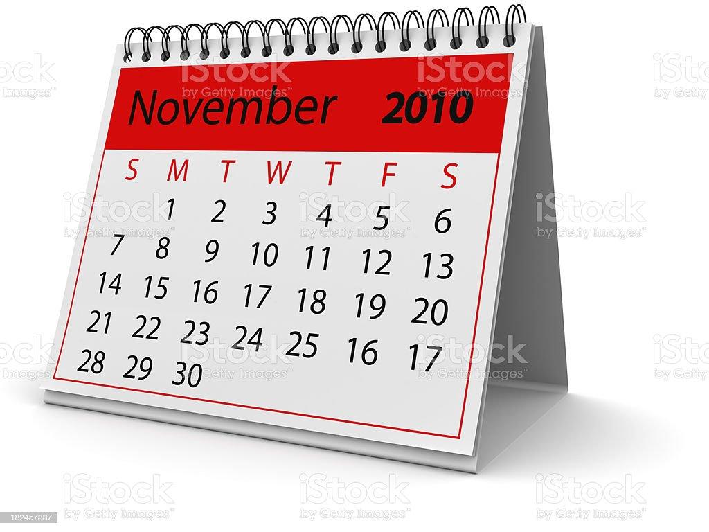Novembro de 2010 foto royalty-free