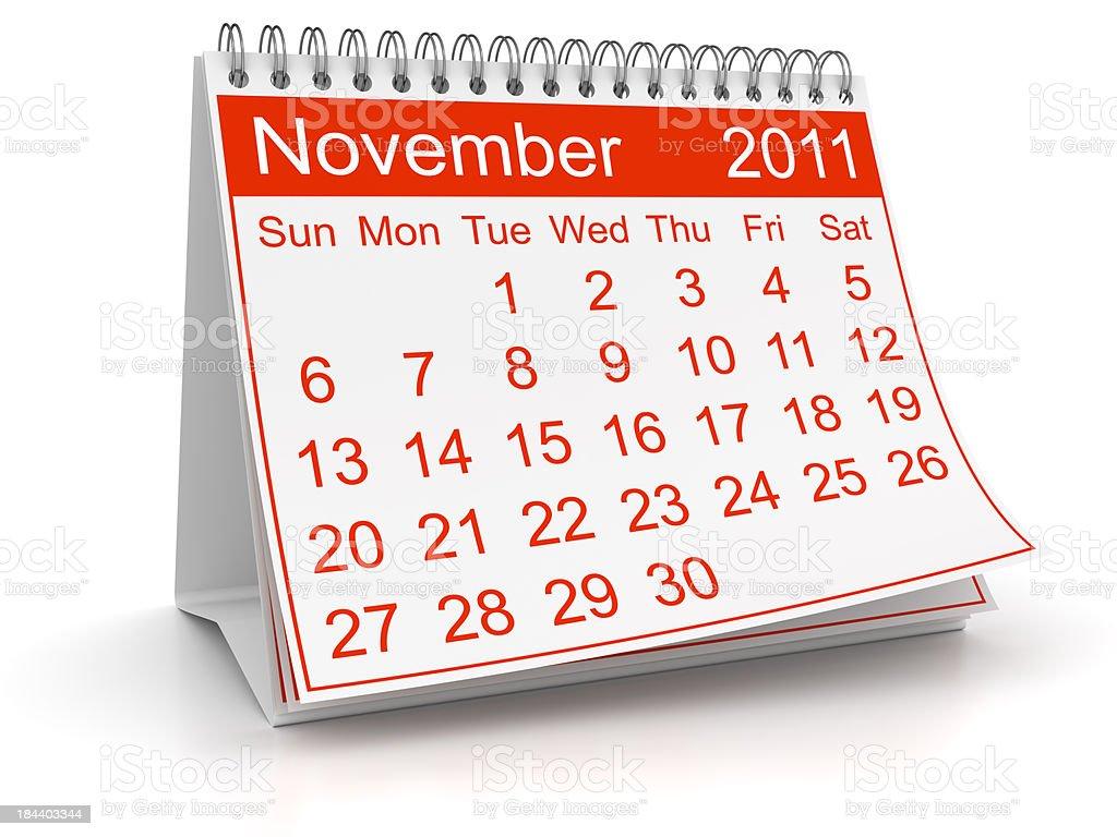 November 2011 royalty-free stock photo
