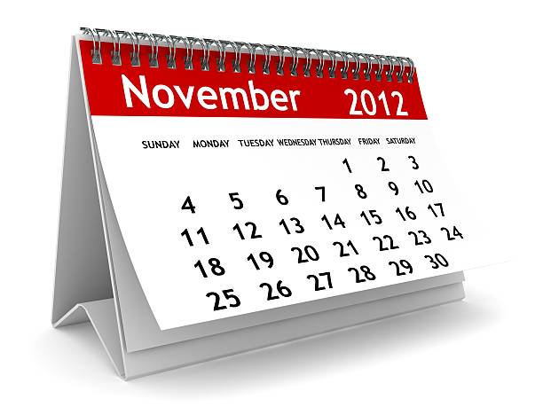 November 2012 Calendar  2012 stock pictures, royalty-free photos & images