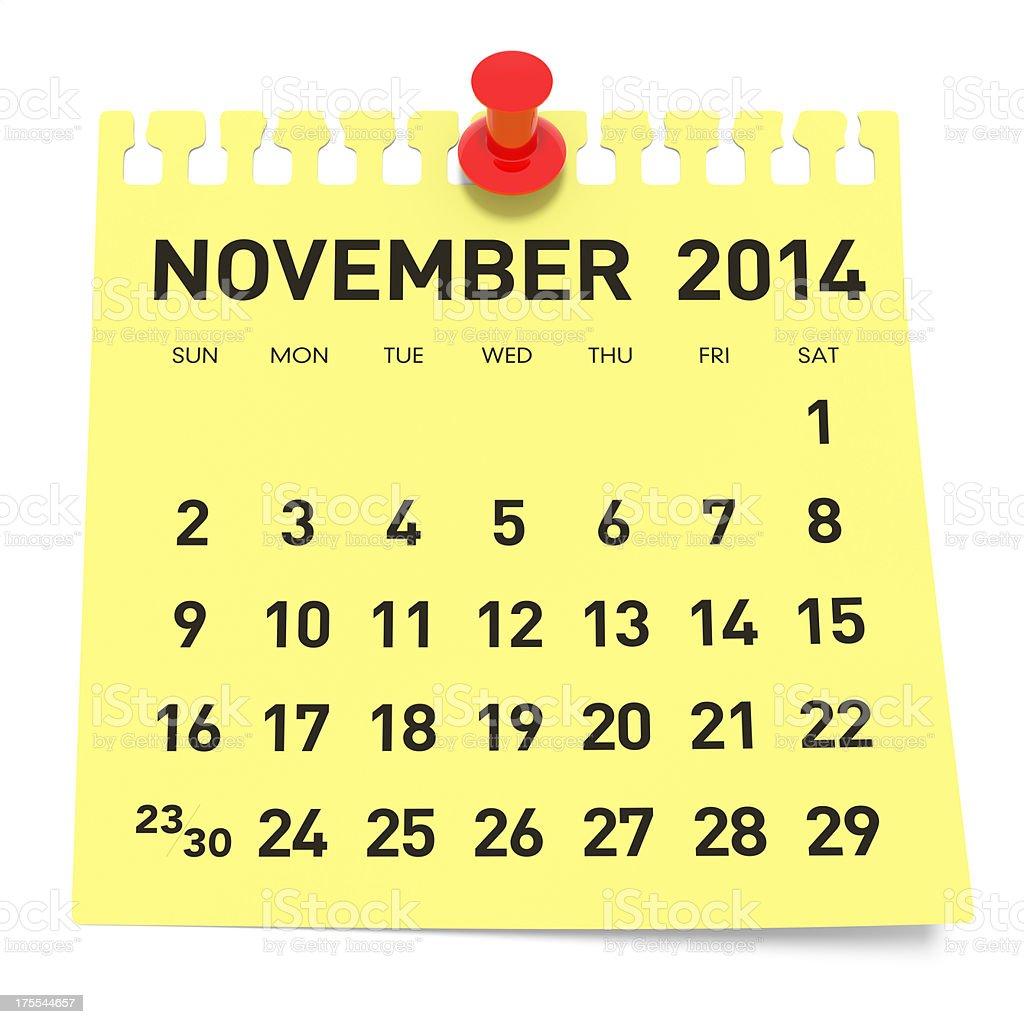 November 2014 Calendar 照片檔及更多2014 照片- iStock