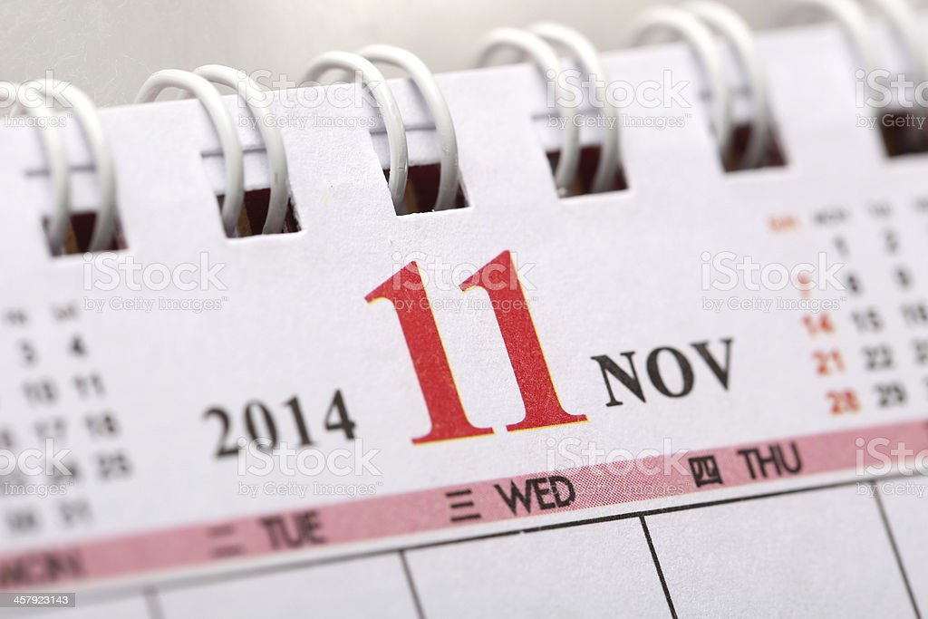 November 2014 - Calendar series royalty-free stock photo