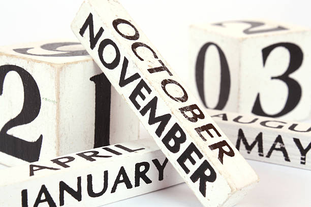 November 2015 Cube Calendar for November , close-up view 2014 stock pictures, royalty-free photos & images