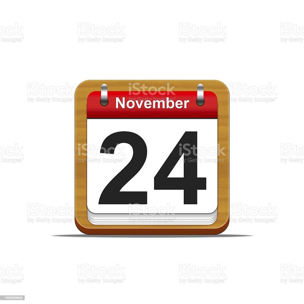 November 24. stock photo