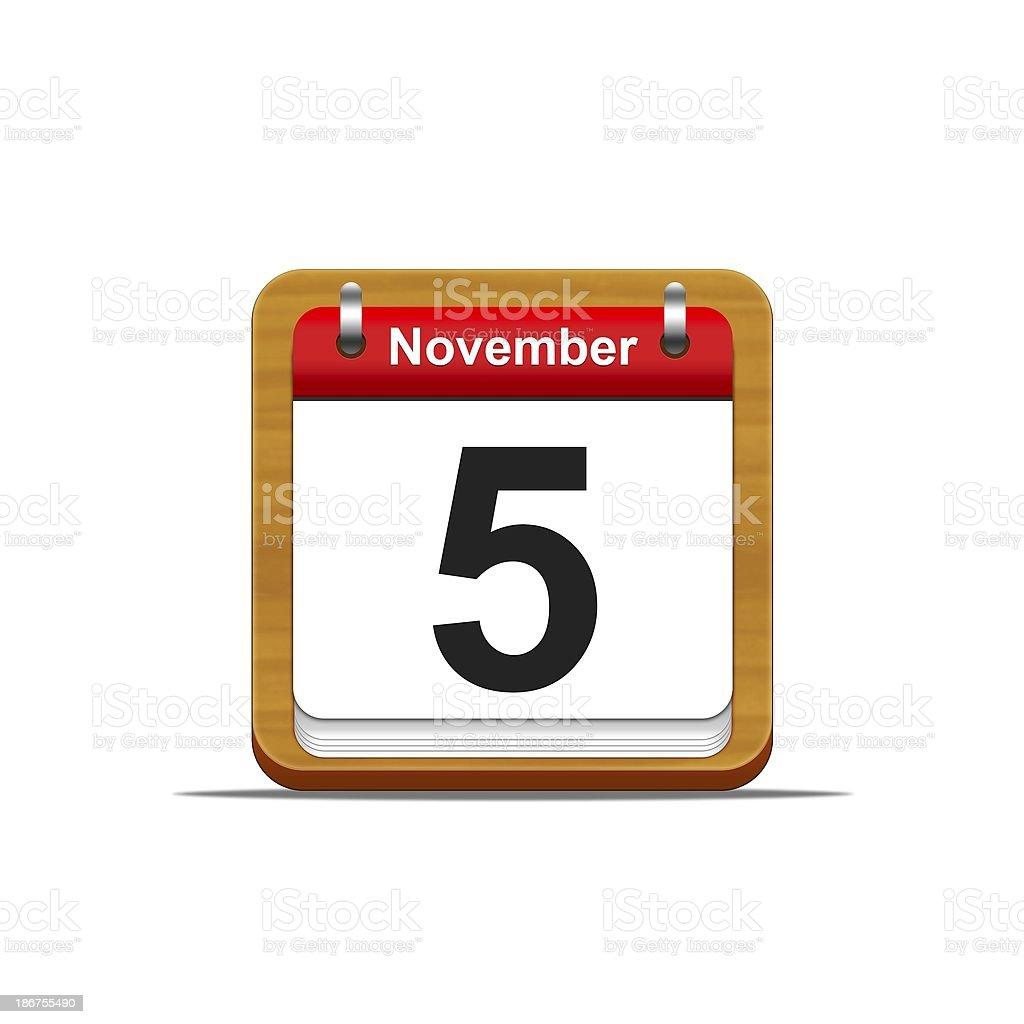 November 5. stock photo