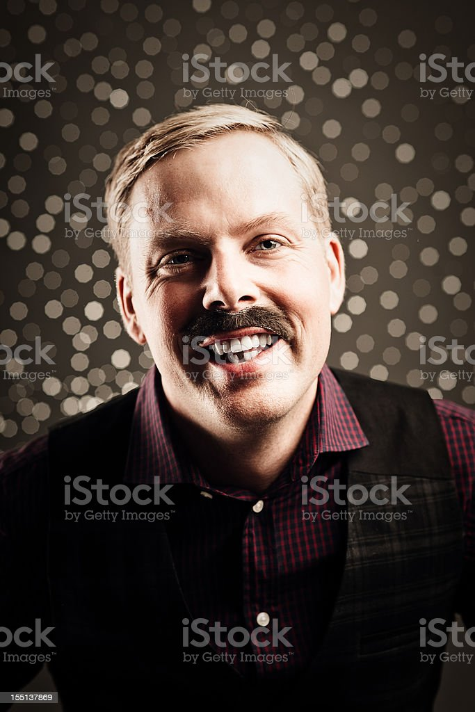 November and time for mustaches stock photo