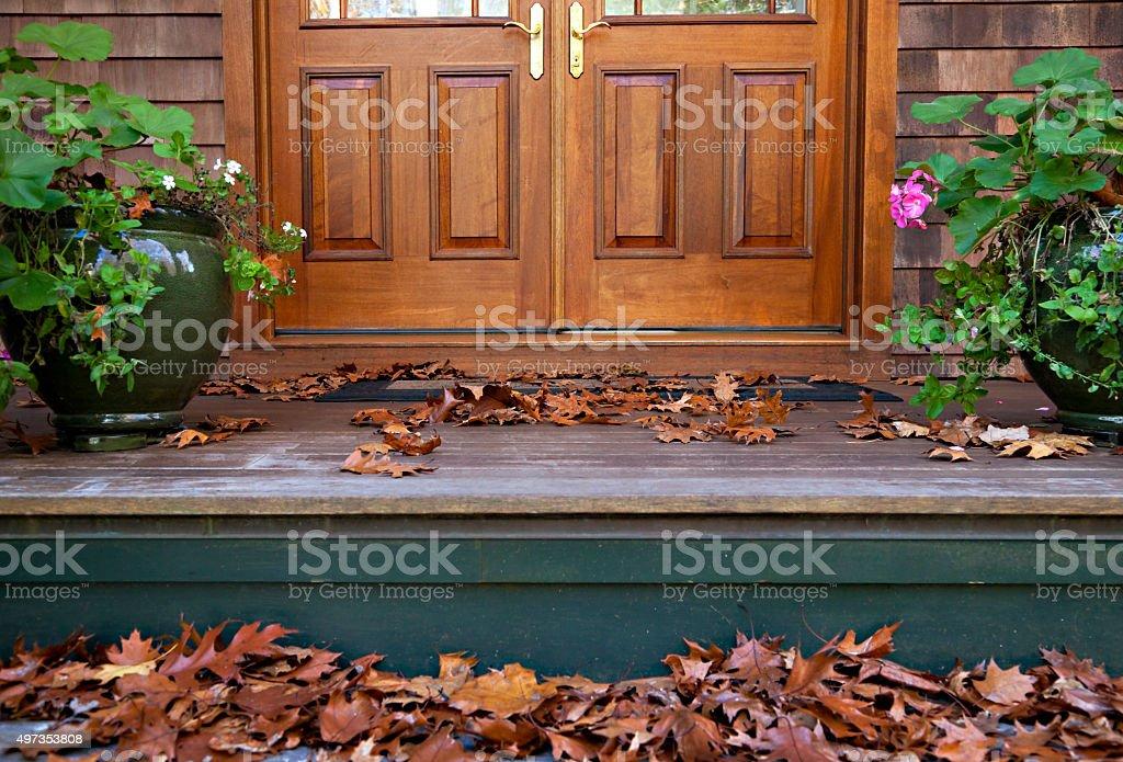 November at my doorsteps stock photo