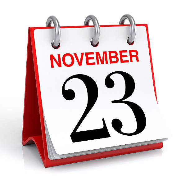 november calendar - number 23 stock photos and pictures
