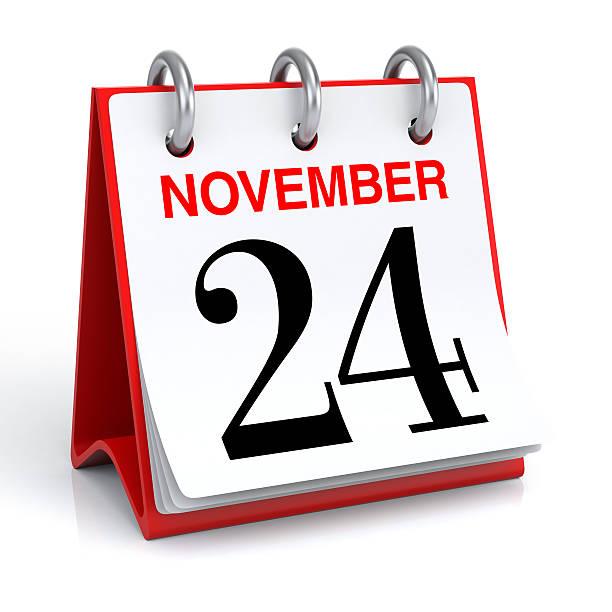calendrier de novembre - nombre 24 photos et images de collection