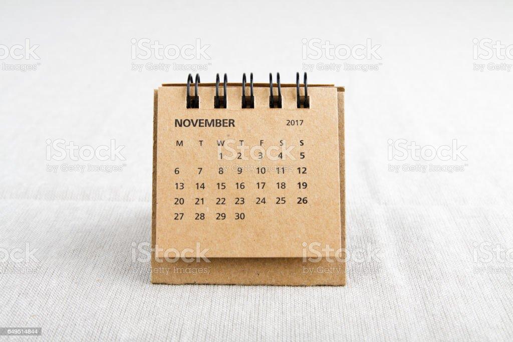 November. Calendar sheet. stock photo