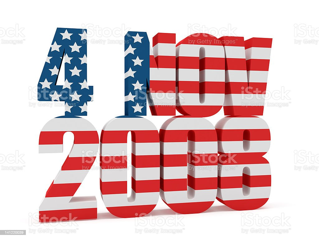 3D 4 Novembre 2008 - USA President stock photo