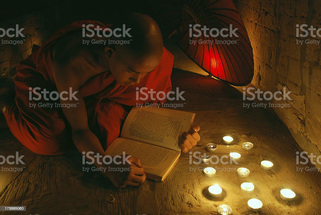 Novice monk royalty-free stock photo